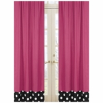 Sweet JoJo Designs Hot Dot Pink Window Panels