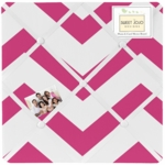 Sweet JoJo Designs Hot Pink & White Chevron Fabric Memo Board