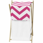 Sweet JoJo Designs Hot Pink & White Chevron Hamper