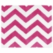 Sweet JoJo Designs Hot Pink & White Chevron Rug