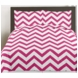 Sweet JoJo Designs Hot Pink & White Chevron Twin Bedding Set