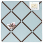 Sweet JoJo Designs Hotel Blue & Brown Fabric Memo Board