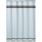 Sweet JoJo Designs Hotel Blue & Brown Shower Curtain