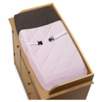 Sweet JoJo Designs Hotel Pink & Brown Changing Pad Cover