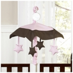 Sweet JoJo Designs Hotel Pink & Brown Musical Mobile