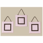 Sweet JoJo Designs Hotel Pink & Brown Wall Hangings
