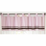 Sweet JoJo Designs Hotel Pink & Brown Window Valance