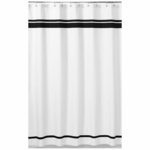 Sweet JoJo Designs Hotel White & Black Shower Curtain