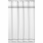 Sweet JoJo Designs Hotel White & Gray Shower Curtain