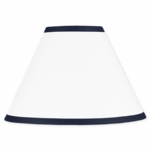 Sweet JoJo Designs Hotel White & Navy Lamp Shade