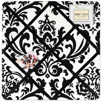 Sweet JoJo Designs Isabella Black & White Fabric Memo Board