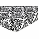 Sweet JoJo Designs Isabella Black & White Fitted Sheet - Damask Print
