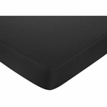 Sweet JoJo Designs Isabella Black & White Fitted Sheet - Solid Black