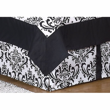 Sweet JoJo Designs Isabella Black & White Toddler Bed Skirt