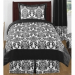 Sweet JoJo Designs Isabella Black & White Twin Bedding Set