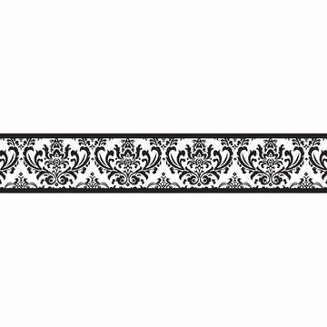 Sweet JoJo Designs Isabella Black & White Wallpaper Border