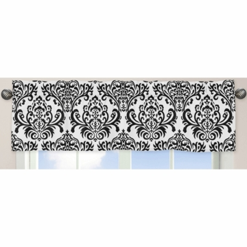 Sweet JoJo Designs Isabella Black & White Window Valance