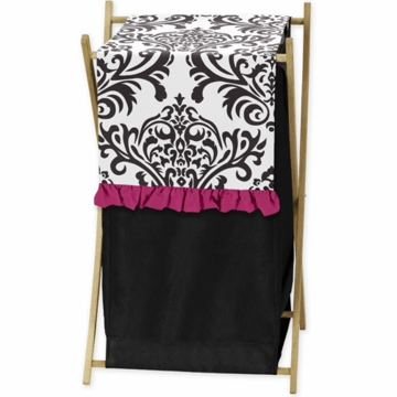 Sweet JoJo Designs Isabella Hot Pink, Black & White Hamper