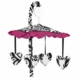 Sweet JoJo Designs Isabella Hot Pink, Black & White Musical Mobile