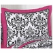 Sweet JoJo Designs Isabella Hot Pink, Black & White Pillow Sham