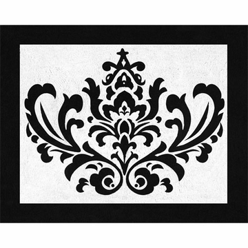 Sweet JoJo Designs Isabella Hot Pink, Black & White Rug