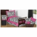 Sweet JoJo Designs Isabella Hot Pink, Black & White Toddler Bedding Set