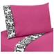 Sweet JoJo Designs Isabella Hot Pink, Black & White Twin Sheet Set