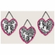 Sweet JoJo Designs Isabella Hot Pink, Black & White Wall Hangings