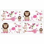 Sweet JoJo Designs Jungle Friends Wall Decals