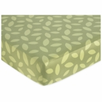 Sweet JoJo Designs Jungle Time Crib Sheet in Green Leaf Print