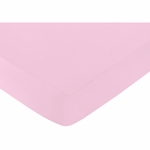 Sweet JoJo Designs Kenya Crib Sheet - Solid Pink