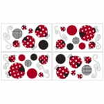Sweet JoJo Designs Little Ladybug Wall Decals