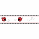 Sweet JoJo Designs Little Ladybug Wallpaper Border