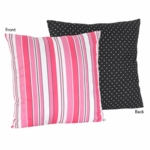 Sweet JoJo Designs Madison Stripe & Dot Print Decortative Throw Pillow