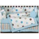 Sweet JoJo Designs Mod Dots Blue 9 Piece Crib Bedding Set