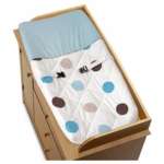 Sweet JoJo Designs Mod Dots Blue Changing Pad Cover