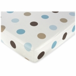 Sweet JoJo Designs Mod Dots Blue Crib Sheet in Large Dot Print