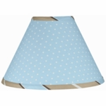 Sweet JoJo Designs Mod Dots Blue Lamp Shade