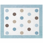 Sweet JoJo Designs Mod Dots Blue Rug