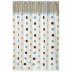 Sweet JoJo Designs Mod Dots Blue Shower Curtain