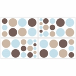 Sweet JoJo Designs Mod Dots Blue Wall Decals