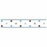 Sweet JoJo Designs Mod Dots Blue Wallpaper Border