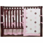 Sweet JoJo Designs Mod Dots Pink 9 Piece Crib Bedding Set