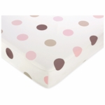 Sweet JoJo Designs Mod Dots Pink Crib Sheet in Large Dot Print