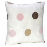 Sweet JoJo Designs Mod Dots Pink Decorative Throw Pillow