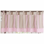 Sweet JoJo Designs Mod Dots Pink Window Valance