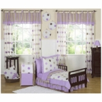 Sweet JoJo Designs Mod Dots Purple 5 Piece Toddler Bedding Set