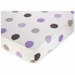 Sweet JoJo Designs Mod Dots Purple Crib Sheet in Large Dot Print