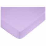 Sweet JoJo Designs Mod Dots Purple Crib Sheet in Mini Dot Print