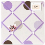 Sweet JoJo Designs Mod Dots Purple Fabric Memo Board
